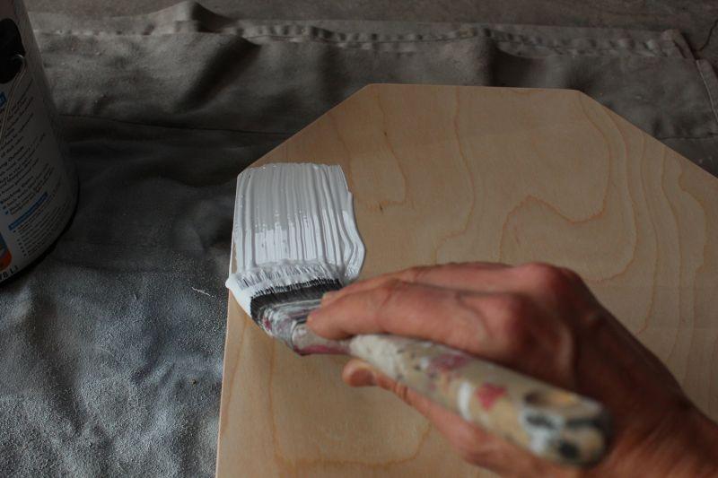 DIY Chalkboard Tombstone - primer coat