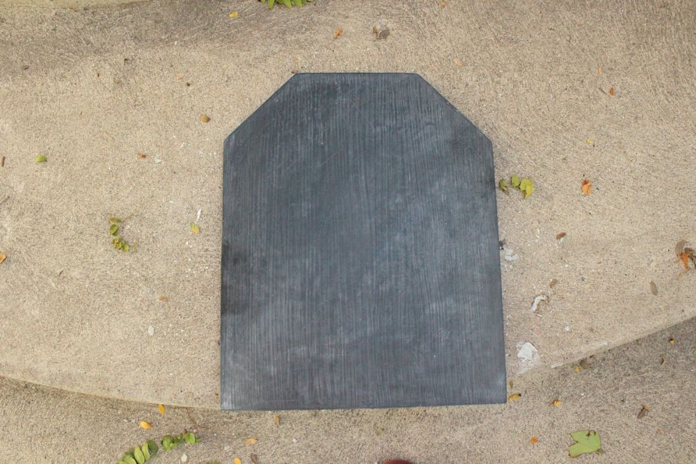 DIY Chalkboard Tombstone - wipping