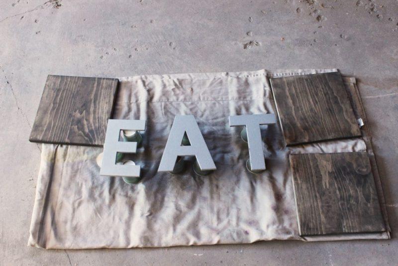Kitchen Wall Art Decor: DIY EAT Wooden Boards