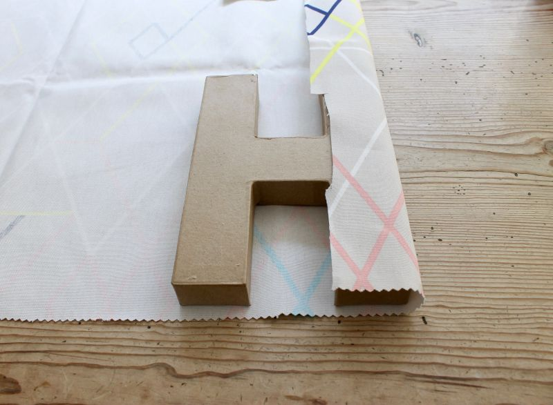 DIY Fabric Covered Letters Step 1