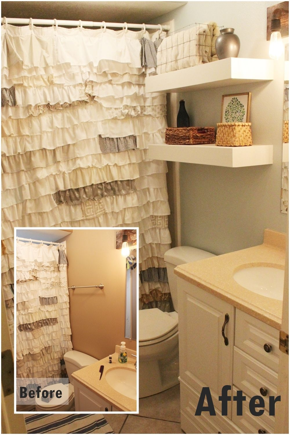 Exceptionnel Diy Floating Shelves Bathroom Storage