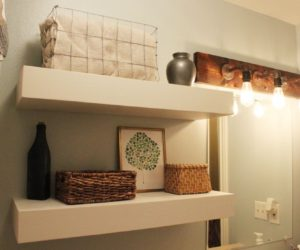 DIY Floating Shelves – How To Build Extra Bathroom Storage