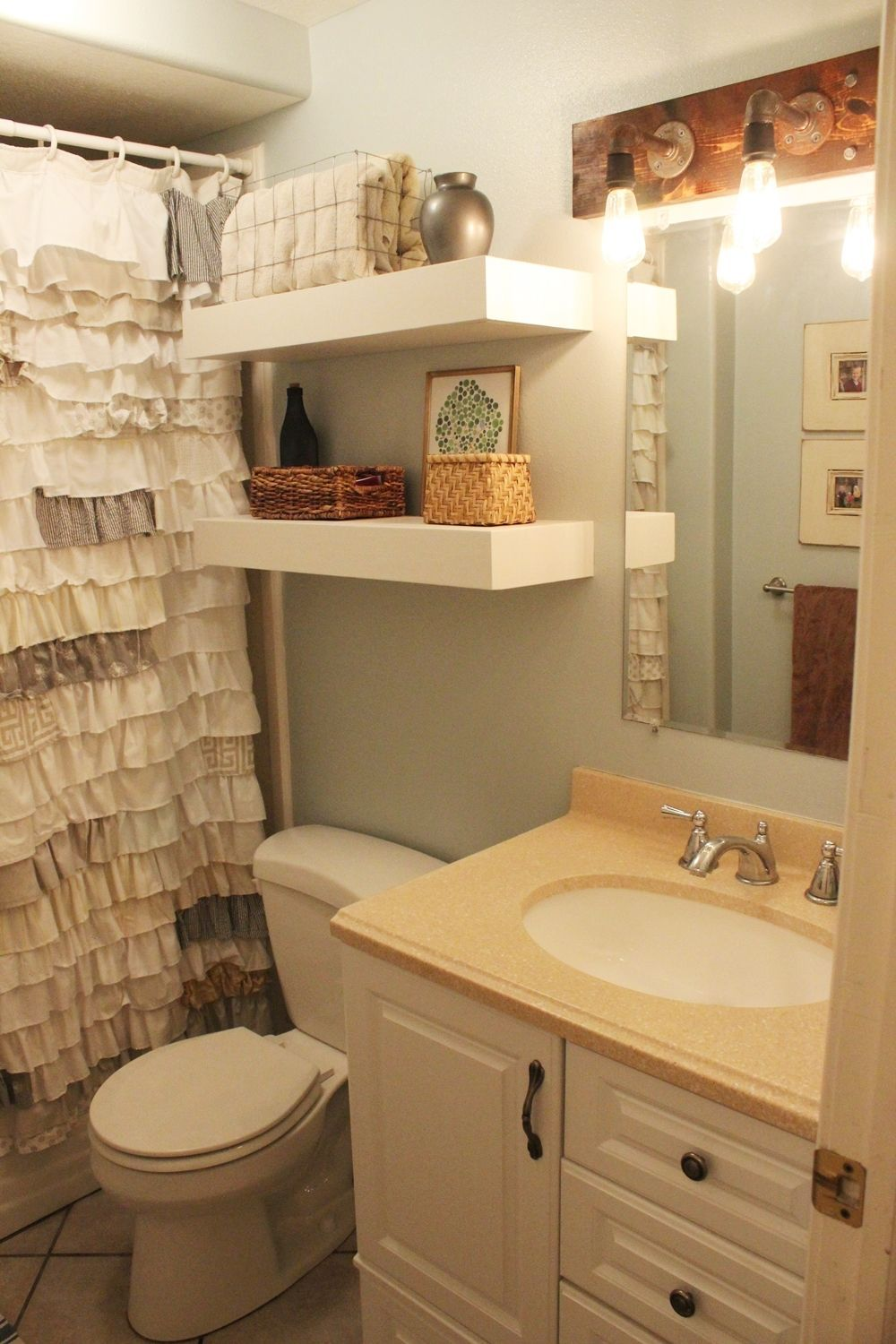 shelf bathroom corner in shelves wood bathroo floating bathrooms for