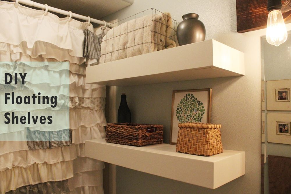 Charmant DIY Bathroom Floating Shelves