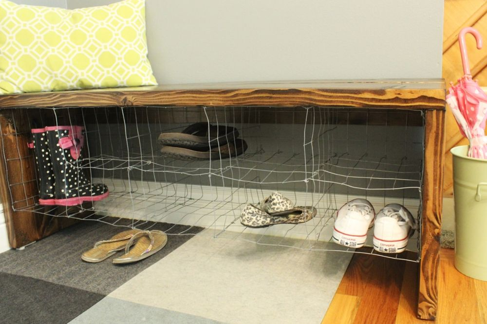 Diy Bench Build Shoe Storage