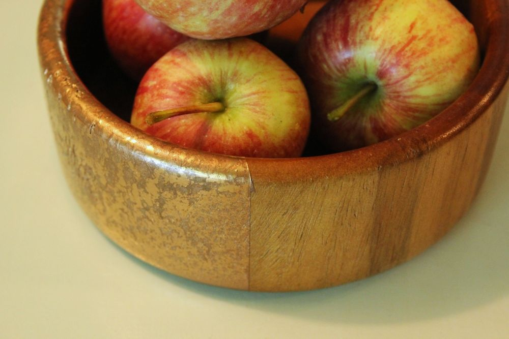 DIY Metal Wood Bowls - Closer