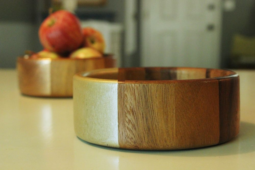 DIY Metal Wood Bowls - Craft