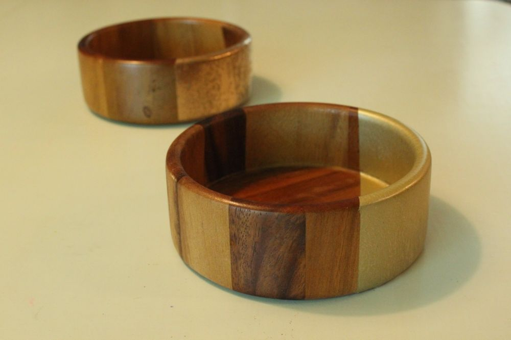 DIY Metal Wood Bowls - Gold Accents for Dining