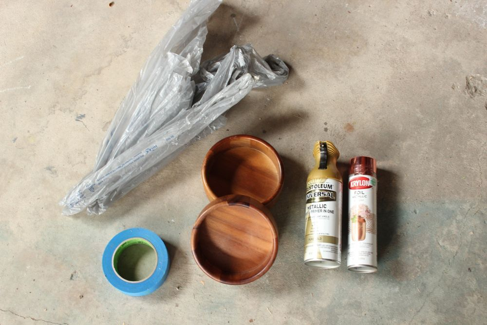 DIY Metal Wood Bowls - Materials
