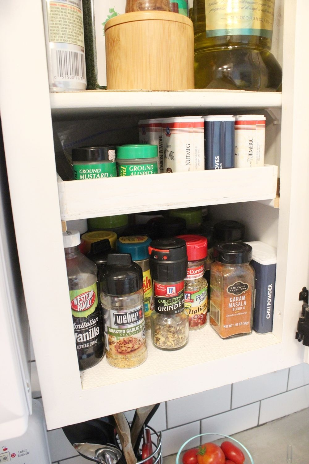DIY Spice Shelf  A Simple Way to Expand Your Spice Shelf
