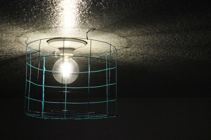 Diy Wire Cage Light Fixture - Small-white-light-cage-by-josselin-deris