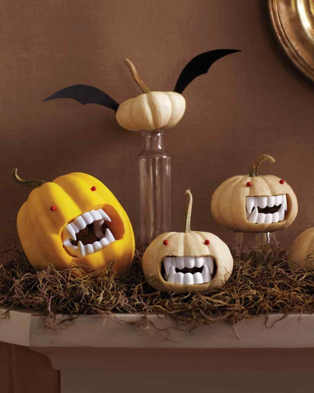 DIY fanged pumpkins