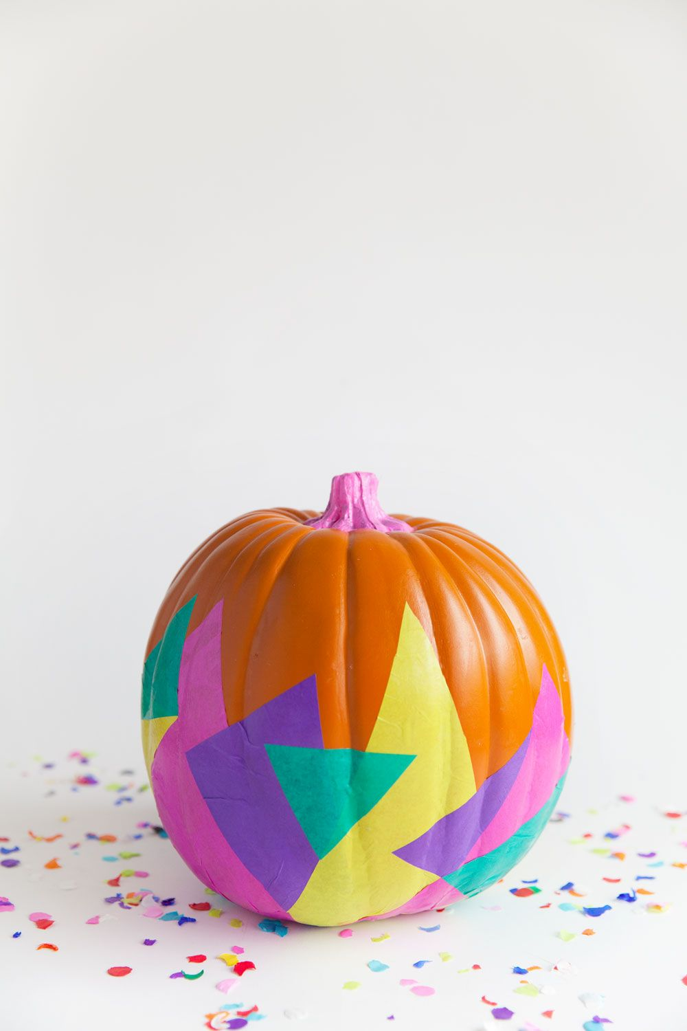 DIY tissue covered pumpkin