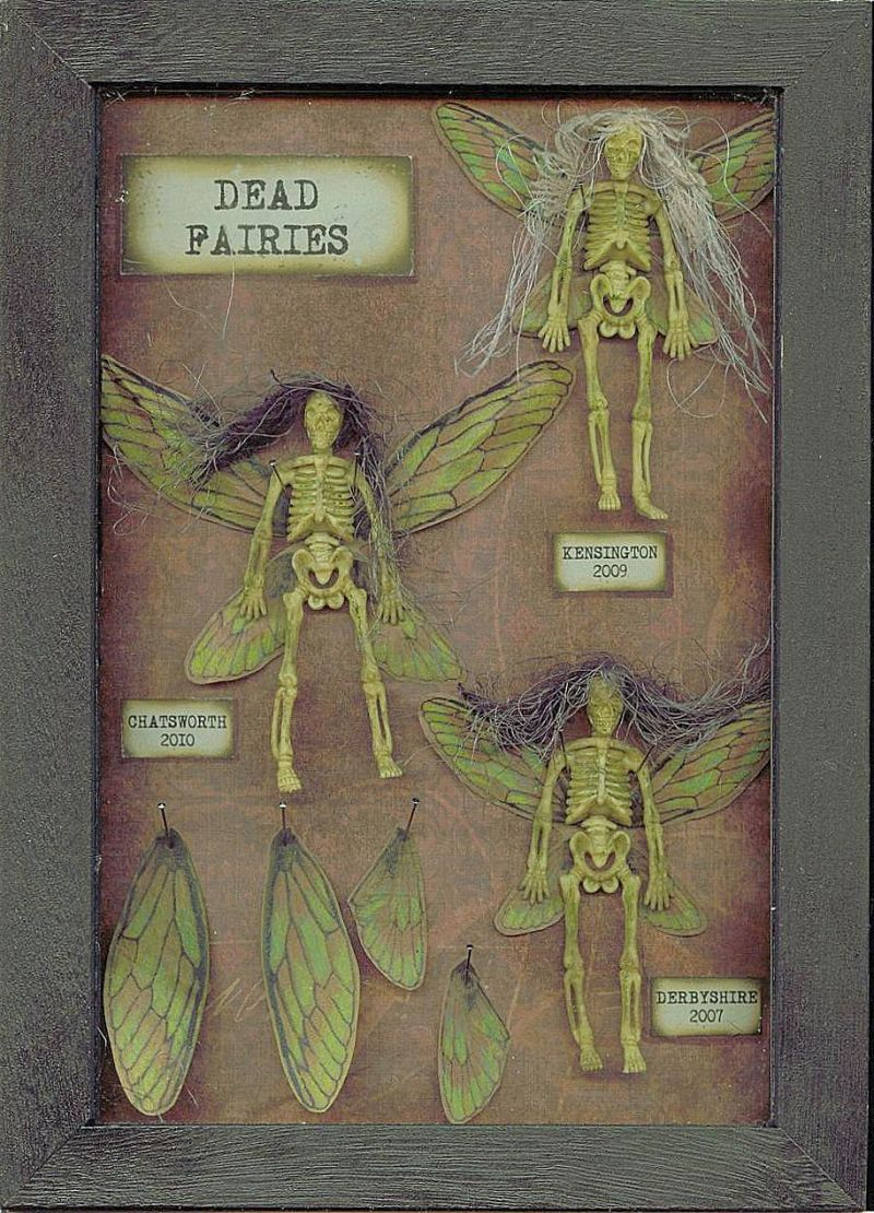 Dead fairy skeletons frame