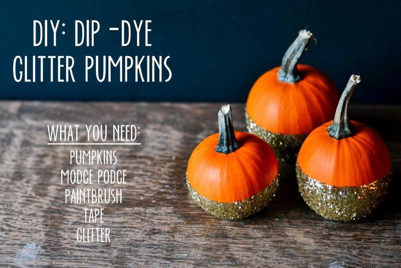 Dip Dye glitter pumpkin