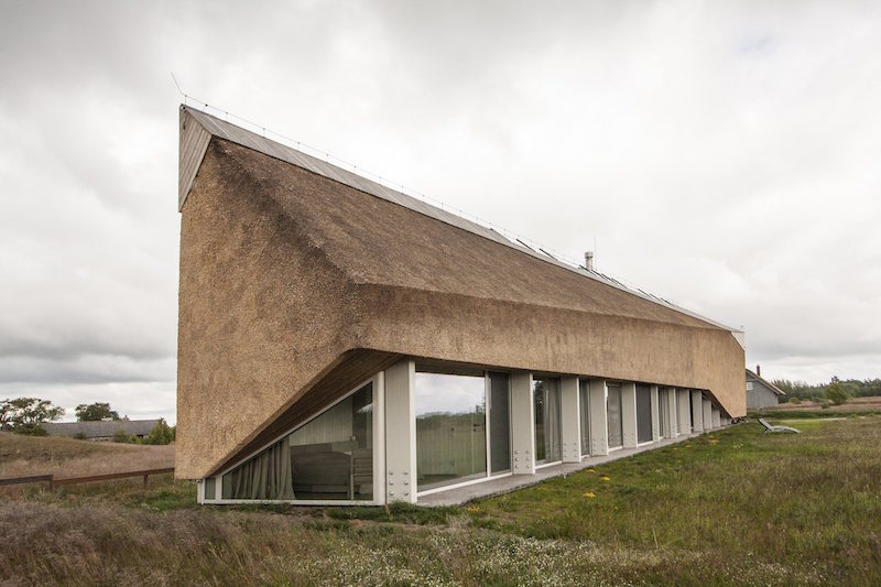 Dune House in Latvia big angled roof