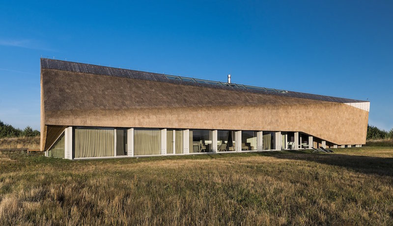 Dune House in Latvia long linear layout