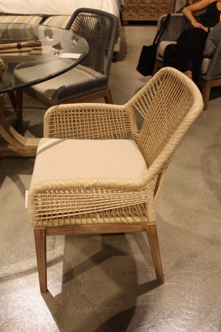 Essentials woven rope armchair