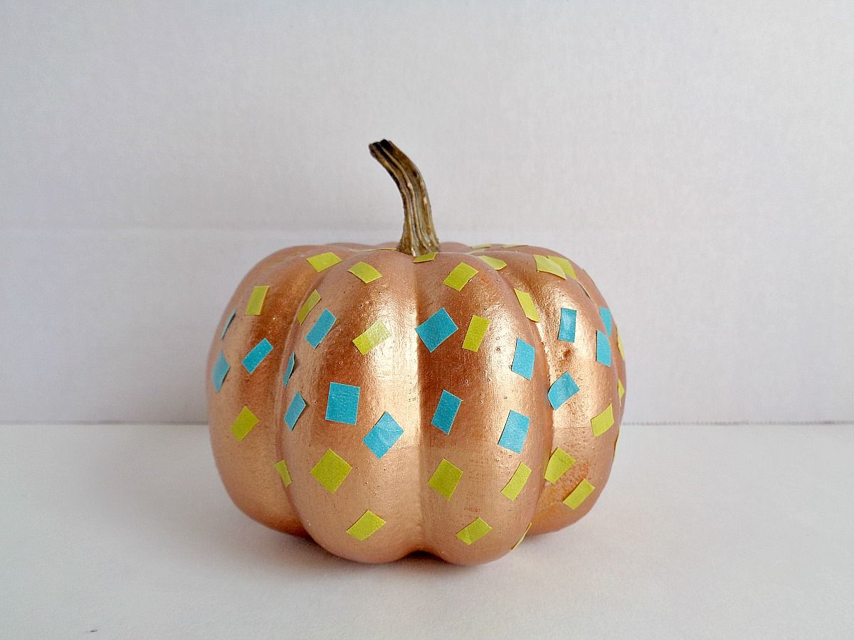 fake-pumpkins-using-washi-tape-glam