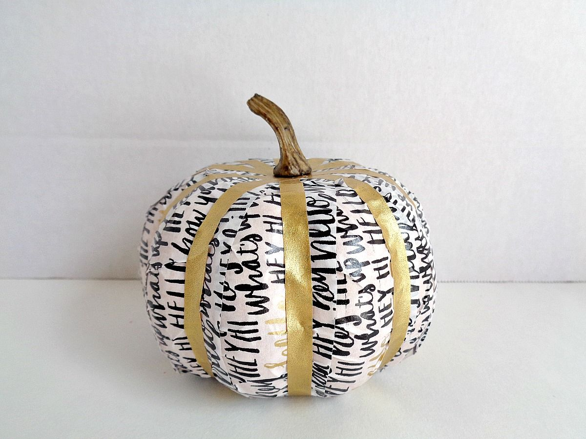 fake-pumpkins-using-washi-tape-glamorous