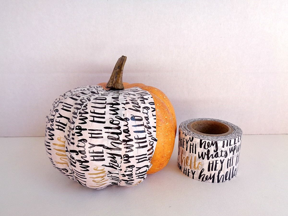 fake-pumpkins-using-washi-tape-white-washi-tape