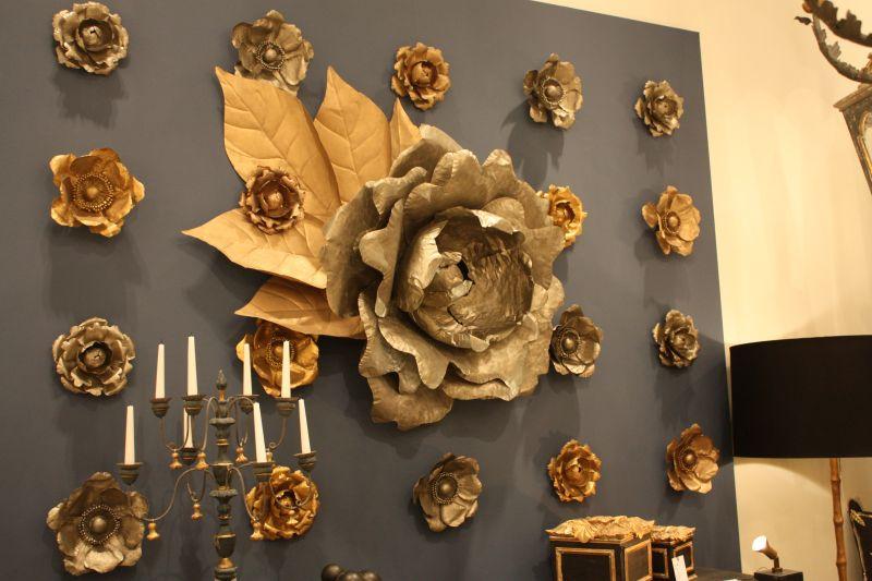 Fall copper wall flowers