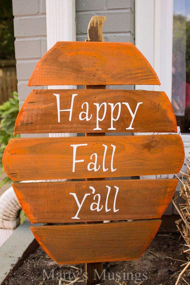 Fence board wood pumpkin