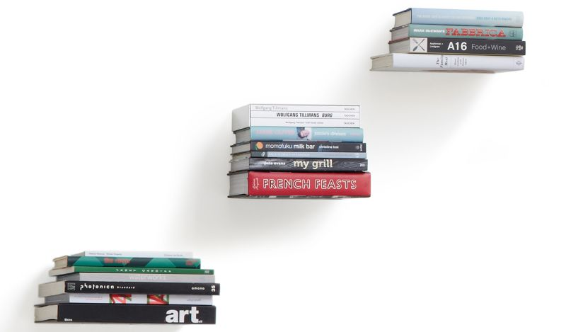 Floating wall books shelf