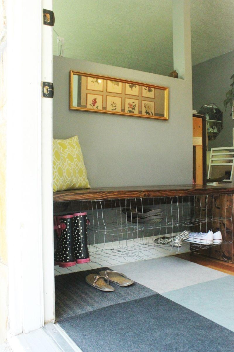 Front door impression of bench