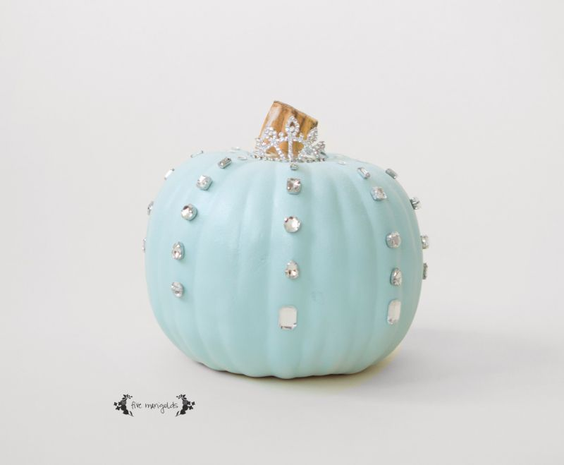 Frozen glitzy pumpkin design