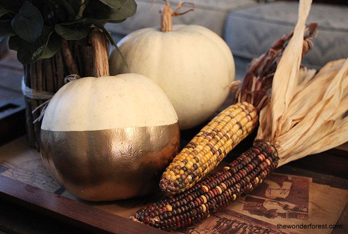 Gold dipped pumpkin