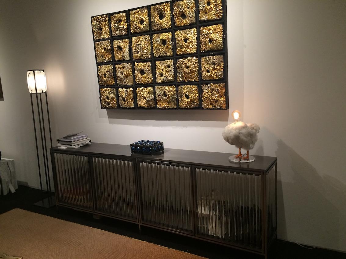 Gold framed wall art