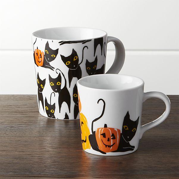 Halloween printed mugs
