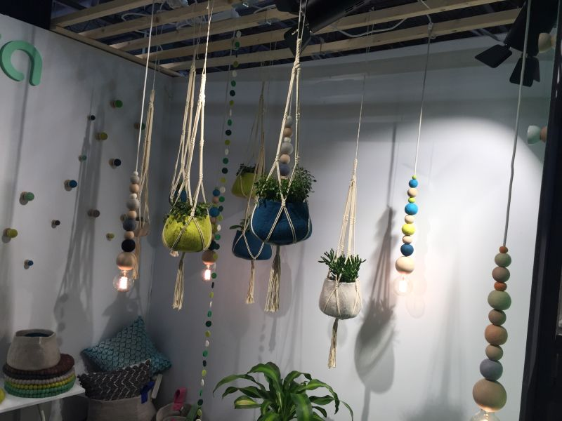 Hanging Flower Felt Planters Design