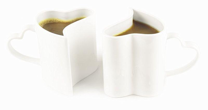 Heart-shaped mugs