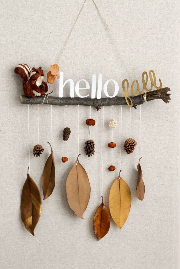 hello fall hanging - Diy Fall Decor