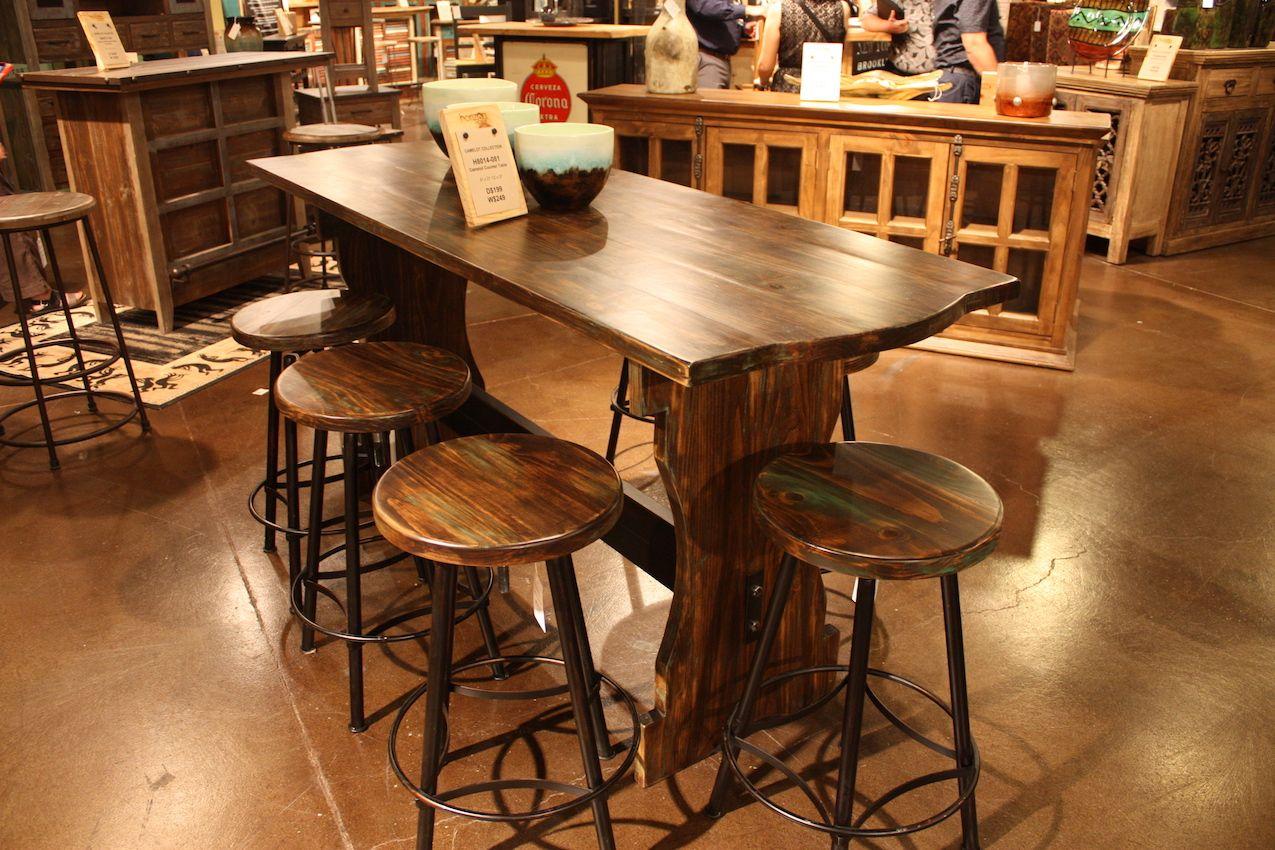 Superbe Horizon Bar Stool With Wood Top