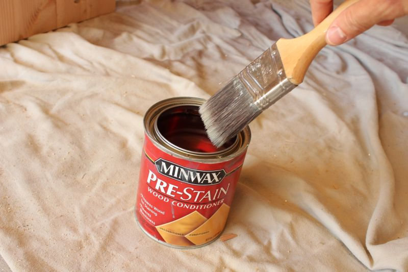 How to Stain Wood- Pre Stain Brush