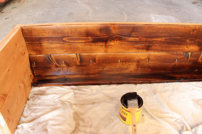 How to Stain Wood Project Stain