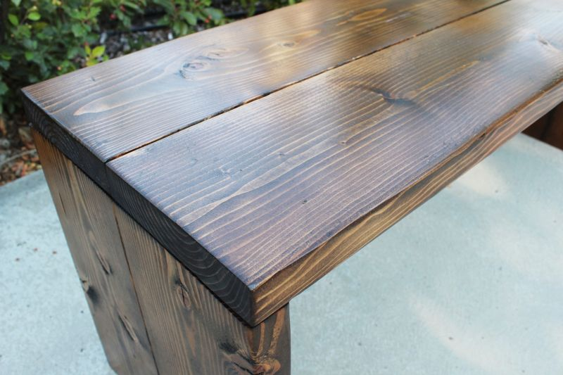 How to Stain Wood Project