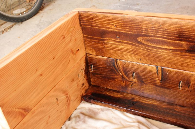 How to Stain Wood - apply the wood stain