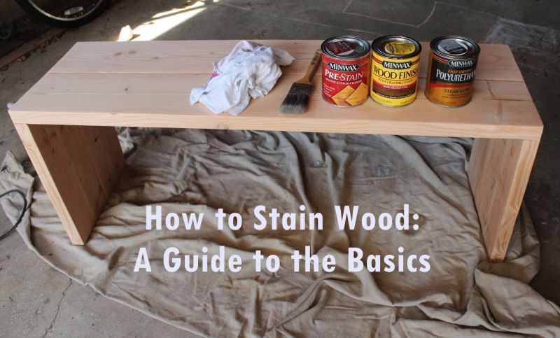 How to Stain Wood- supplies