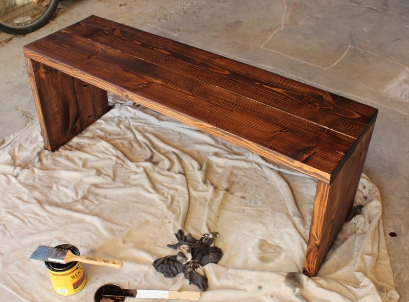 How to Stain Wood- waiting and wiping