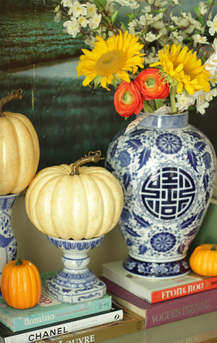 Indigo fall vases