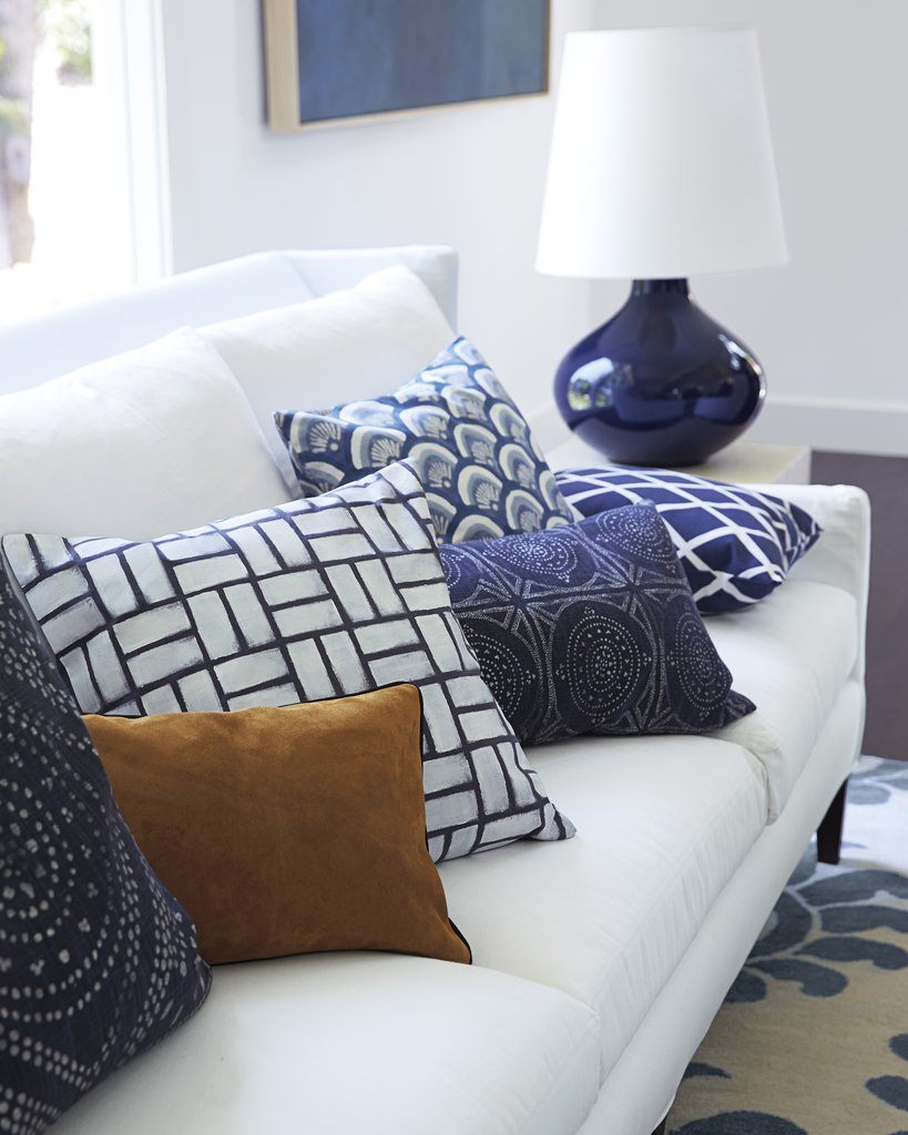 Indigo patterned pillows