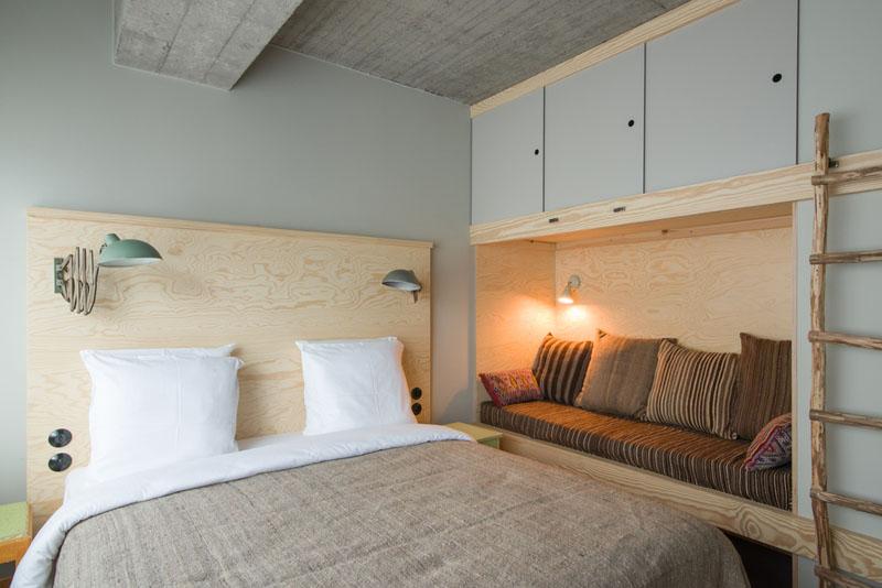 JAM Hotel in Bruseels Schlafzimmerecke