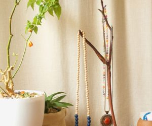 Natural DIY Jewelry Tree Display