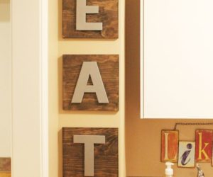 Kitchen Wall Art Decor: DIY EAT Wooden Boards