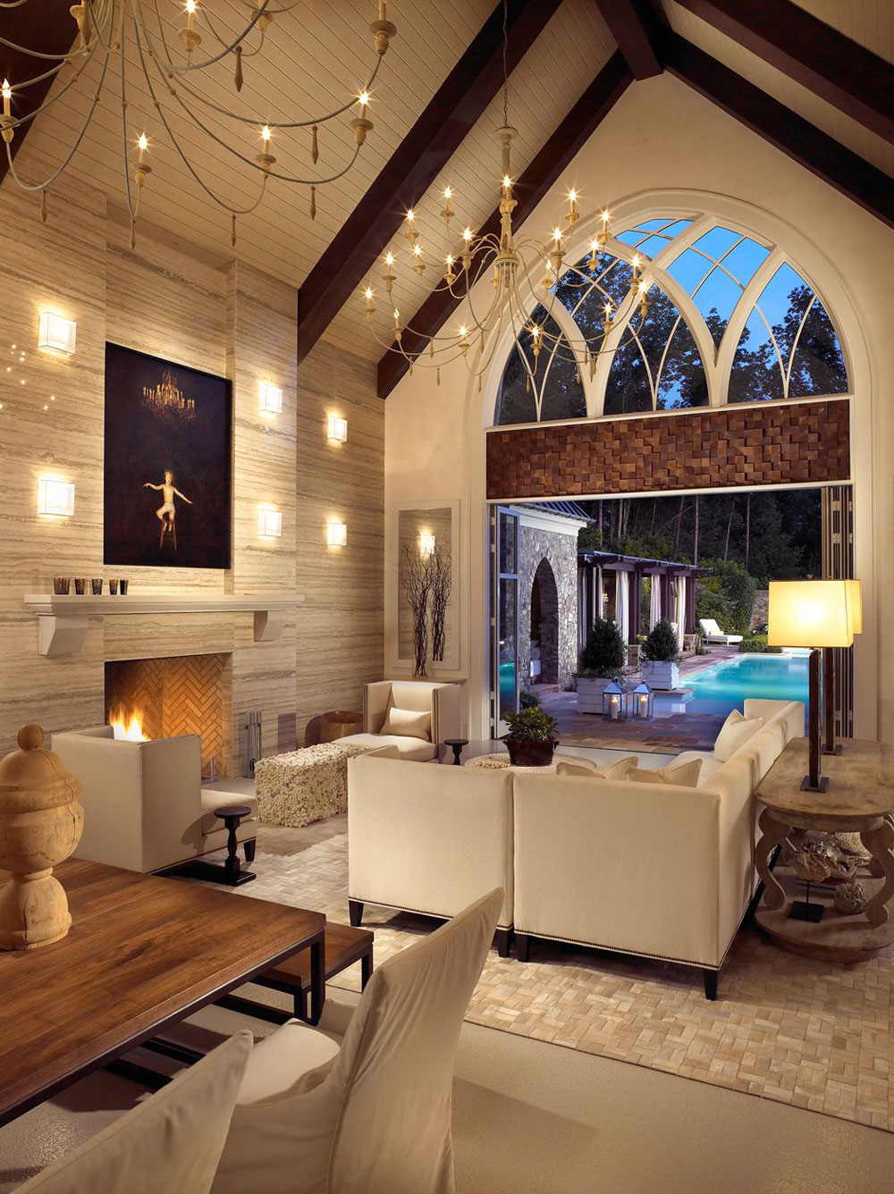 vaulted living room how to decorate a great room with cathedral ceilings www 10687