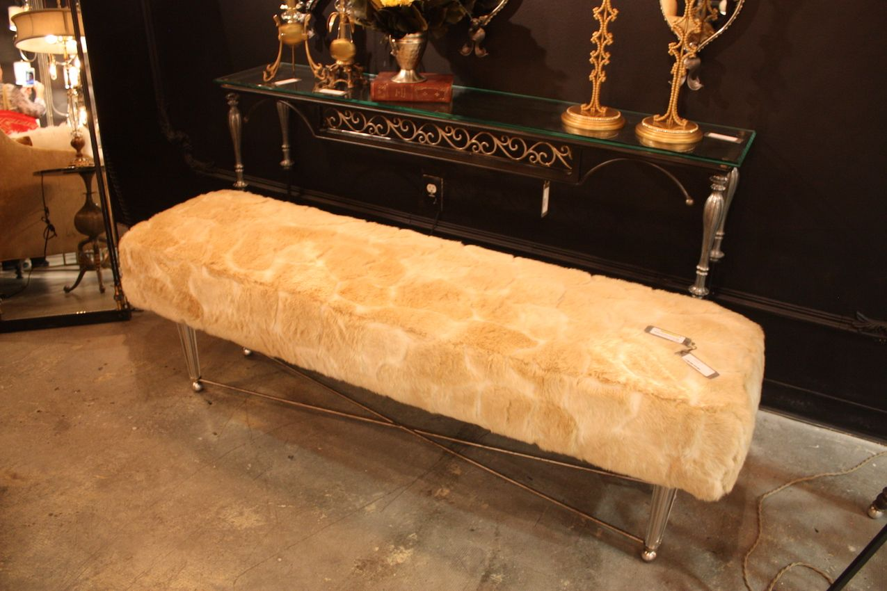 Luna bella blonde fur bench